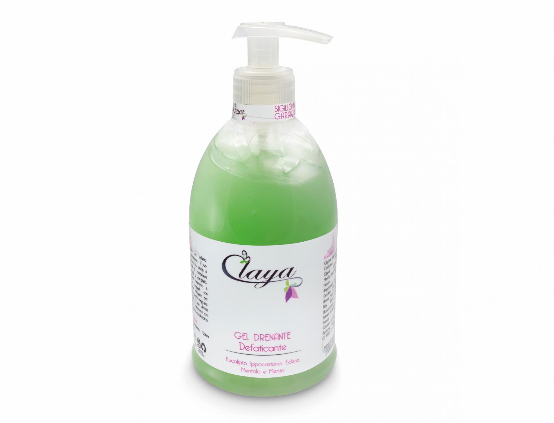 Claya cosmetici gel drenante defaticante